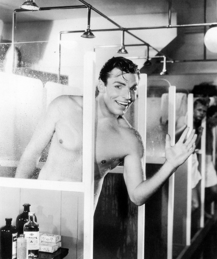 Buster Crabbe, shirtless