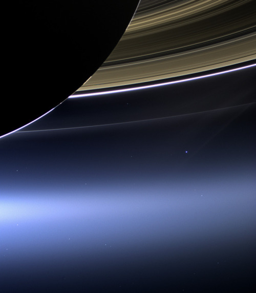 Looking at Earth from nearSaturn