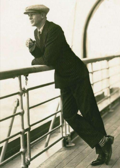Gary Cooper aboard a ship,1920s