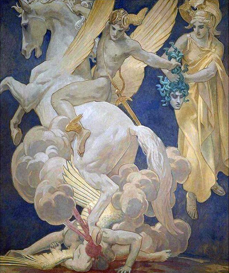 "Joseph Paul Blanc  ""Perseus astridePegasus"""