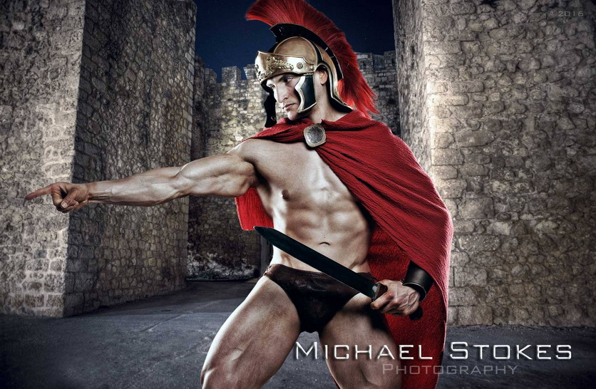 Model Bryant Wood as a Warrior, by Michael Stokes