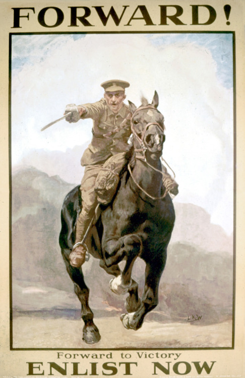 Forward to victory! (British WWI recruitmentposter)