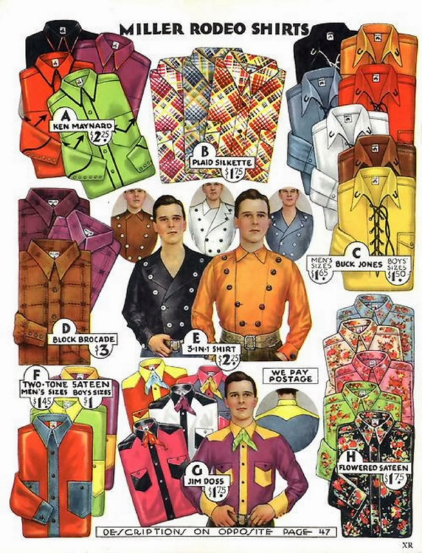 Rodeo Shirts, 1930s