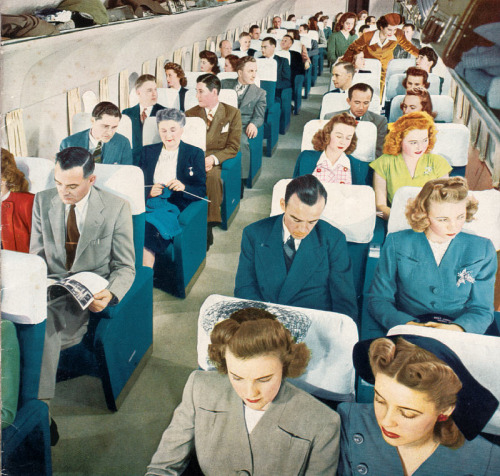 Airplane interior, 1940s
