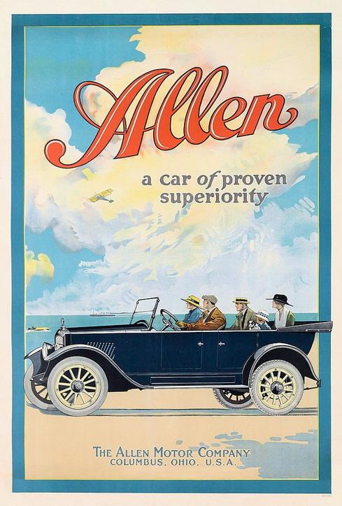 Allen cars, 1910s
