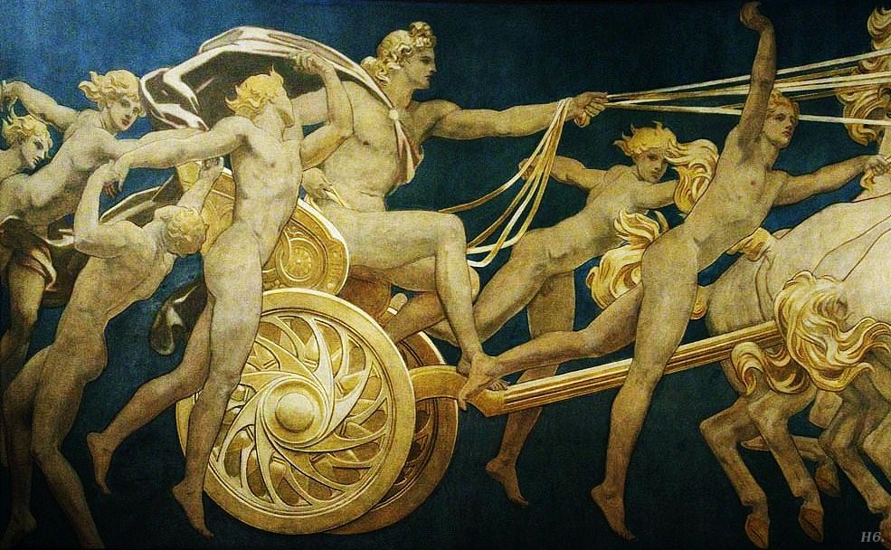 Apollo in his chariot with the hours, John SingerSargent