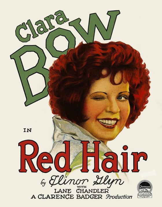 clara bow red hair