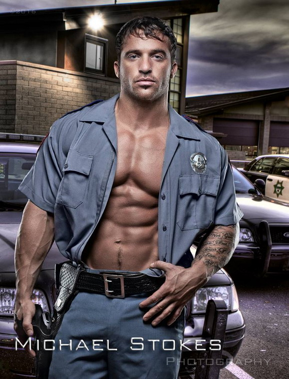 Model Gary Taylor as a cop by Michael Stokes