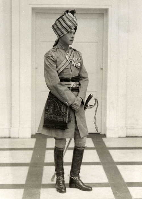 Edward Prince of Wales, later Duke of Windsor, during a trip to India (c. 1920)