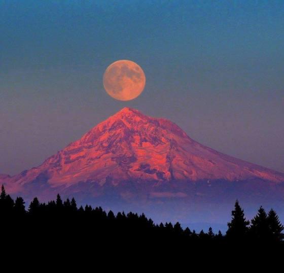 full moon mountain