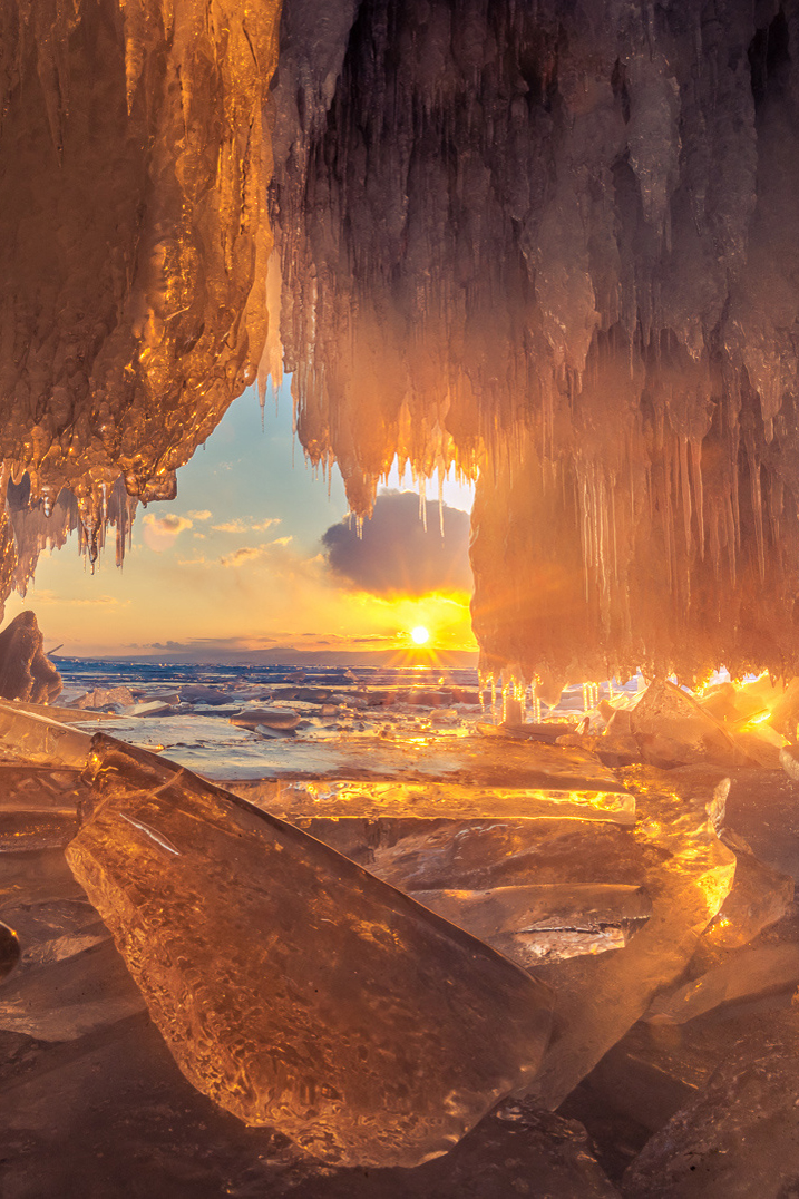 Ice cave andsunlight