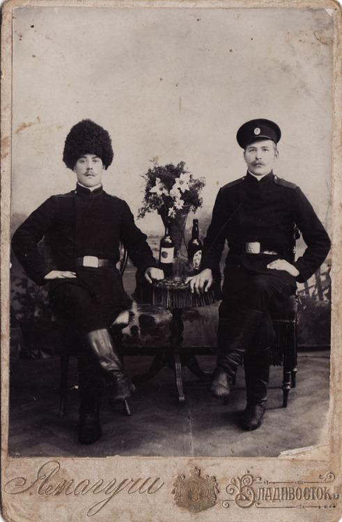 Imperial Russian soldiers, Vladivostok, 1910`s Russian soldiers, Vladivostok, 1910`s
