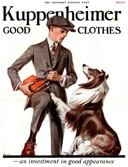 Kuppenheimer ad in the Saturday Evening Post,1921