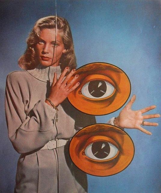 Lauren Bacall getting a littlesurrealistic