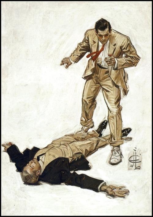 Leyendecker murder illustration