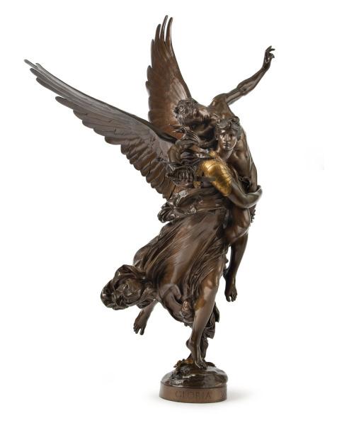 """Marius-Jean-Antonin Mercié (1845-1916), """"Gloria Victis"""",Bronze"""