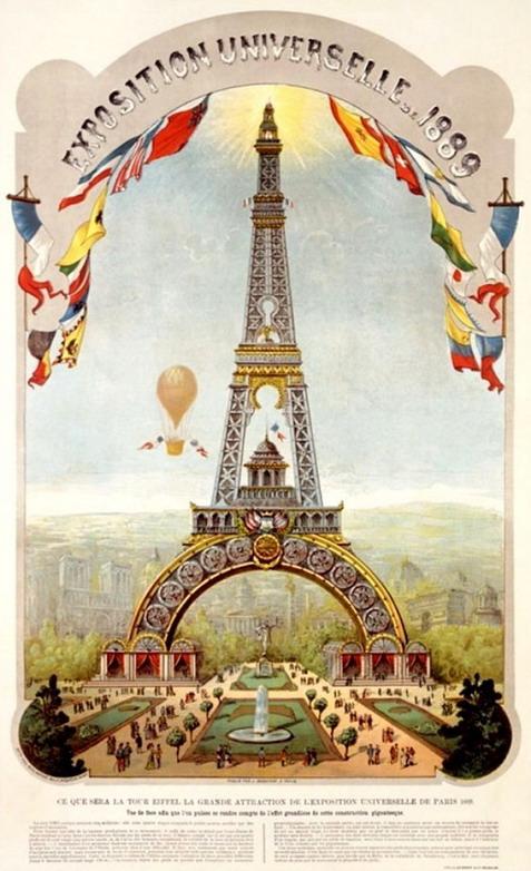 Affiche d'Exposition Universelle, Paris,1889