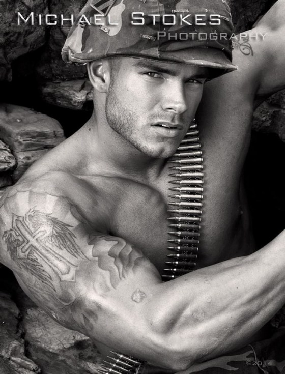 soldier shirtless stokes