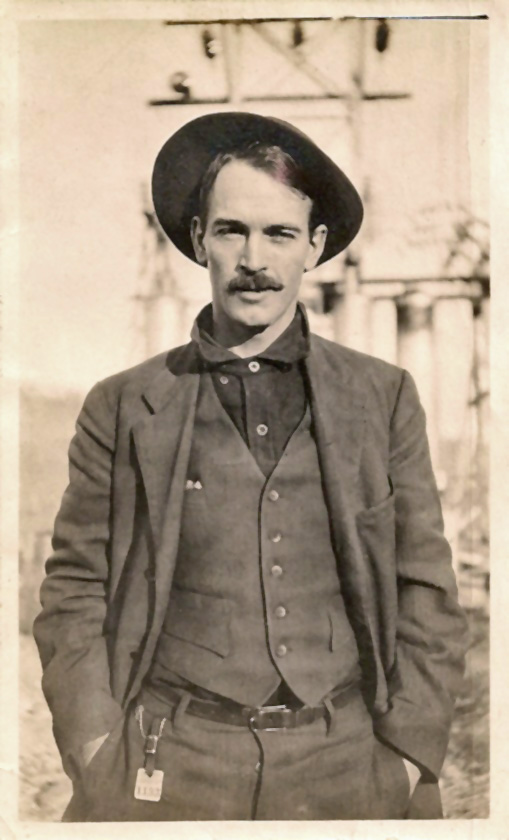 Man with a stache, Texas,1920s