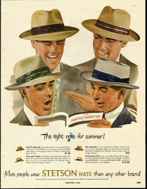 Stetson hats, 1940s