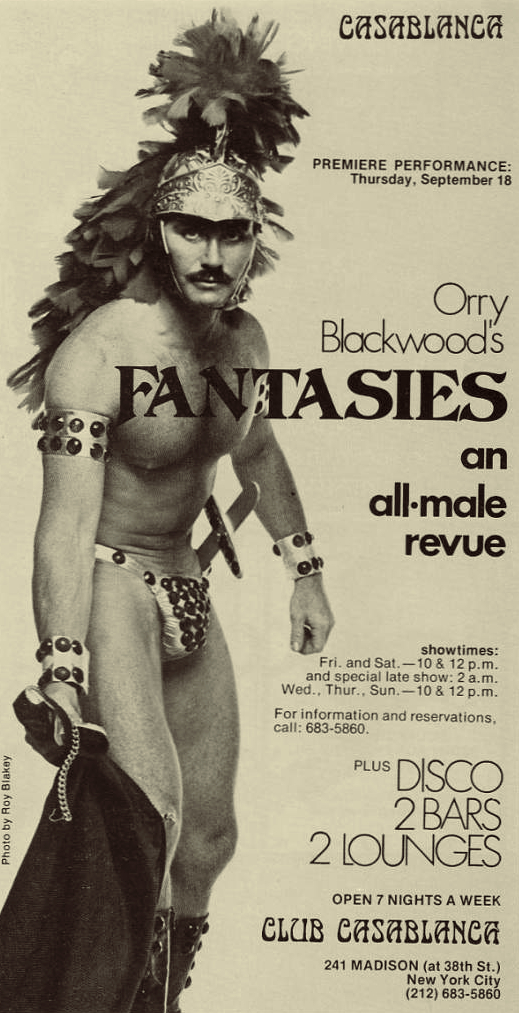All-Male Review, NYC,1970s