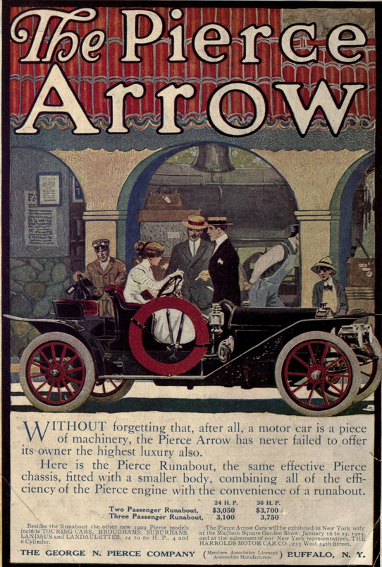 The Pierce  Arrow, circa 1910