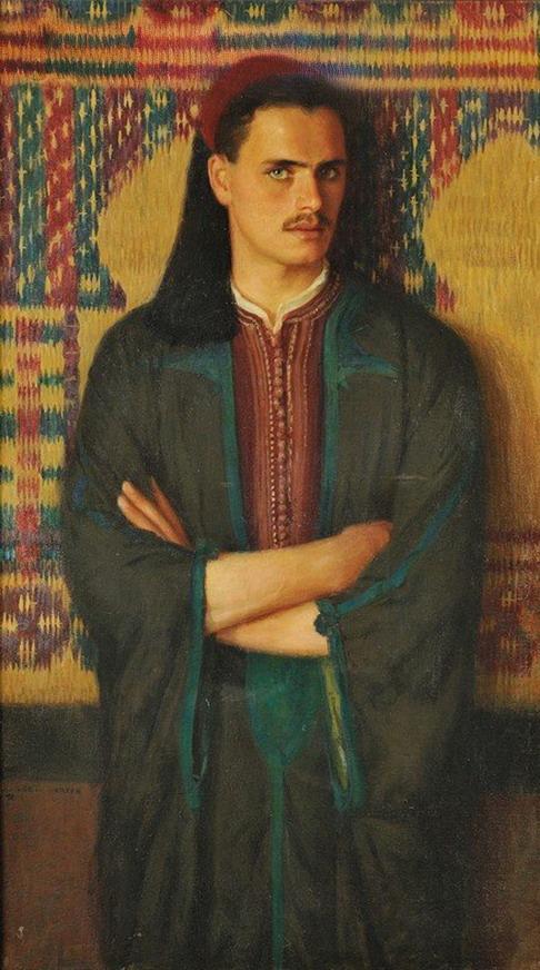 """A Tunisian Portrait"" by Albert Herter,1925"