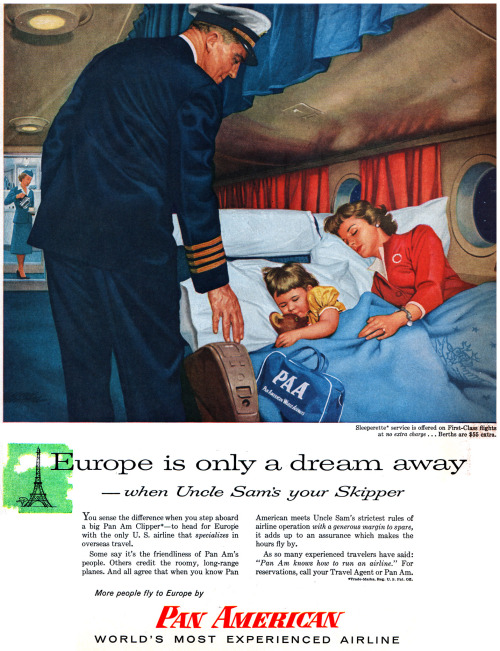 Europe is just a dream away by Pan Am, 1950s