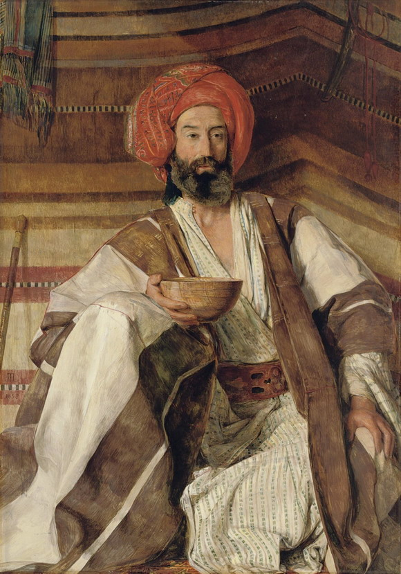 """An Arab of the Desert of Sinai"" by  John Frederick Lewis, 1858"