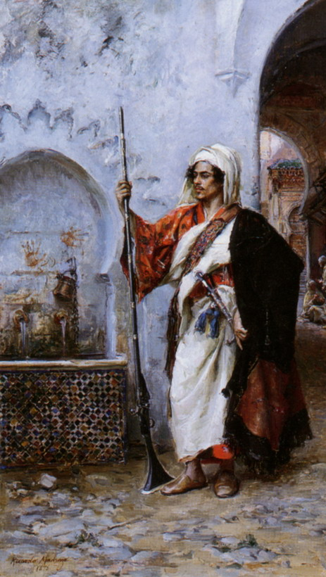 Arab Warrior by Raimundo de Madrazo y Garreta, 1878