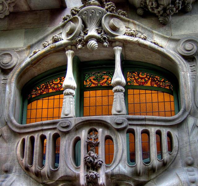Art Nouveau Balcony,Barcelona