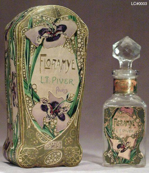 Art Nouveau Perfume Bottle and box