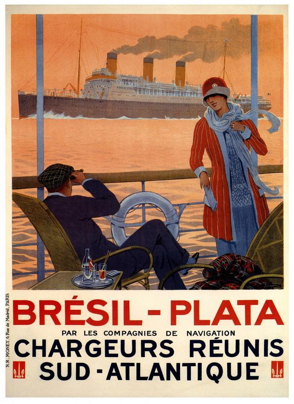 Bresil-Plata, par les compagnies de navigation Chargeurs-Reunis Sud-Atlantique