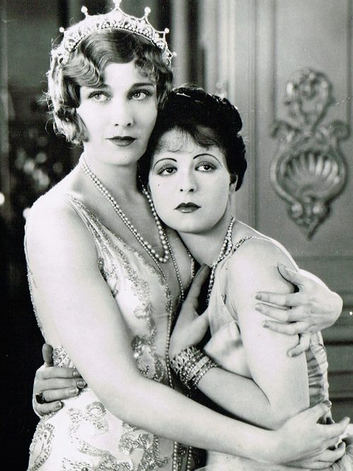 "Esther Ralston and Clara Bow in ""Children of Divorce"" (1927)"