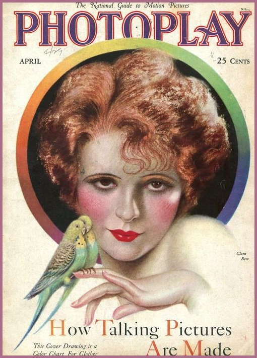 Silent Film Star on the Cover of Photoplay, 1920s