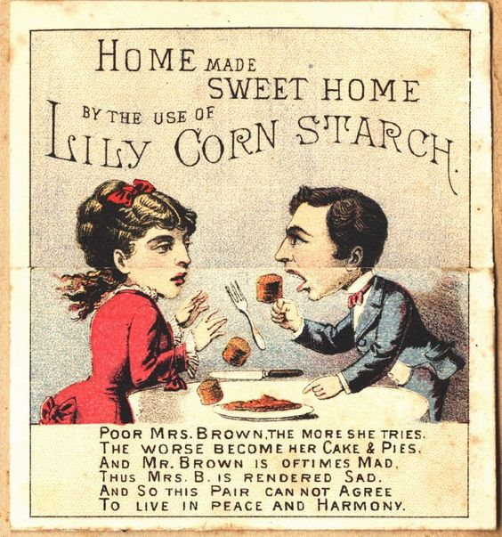 Lily Corn Starch, 1800s