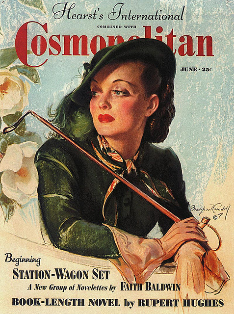 Bette Davis on the cover of Cosmopolitan