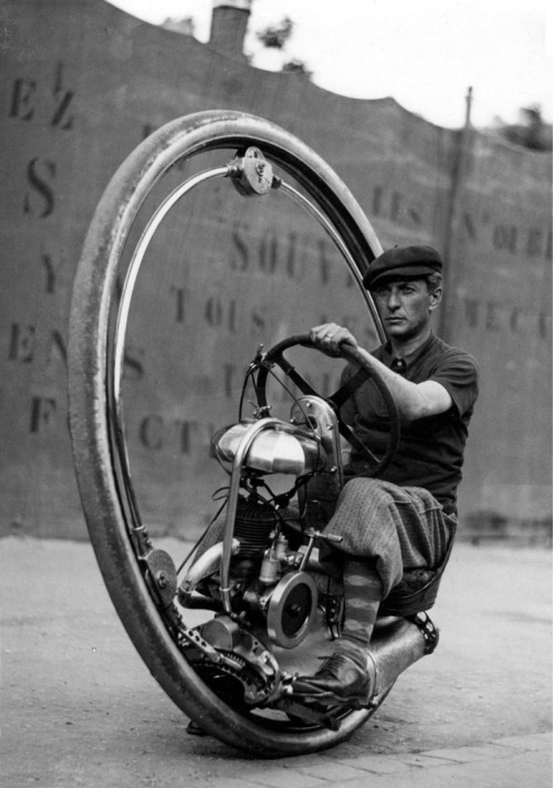 1920's Motoruota One Wheel Motorcycle