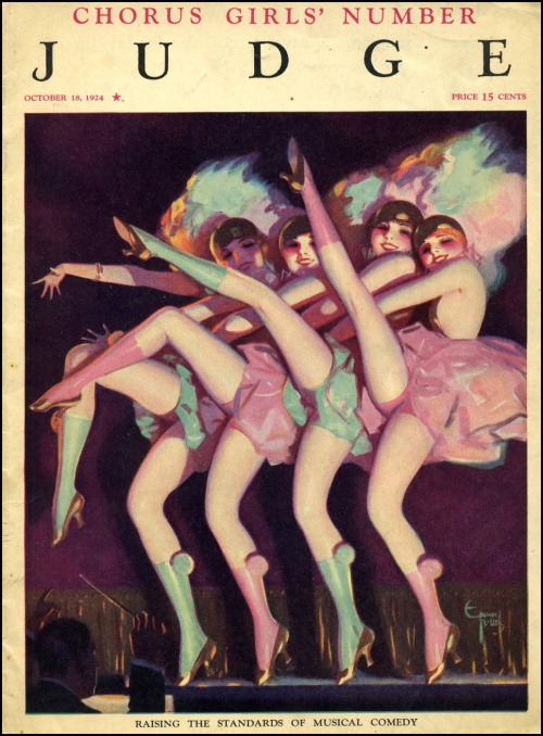 "Chorus Girls on the cover of ""Judge"", 1924"