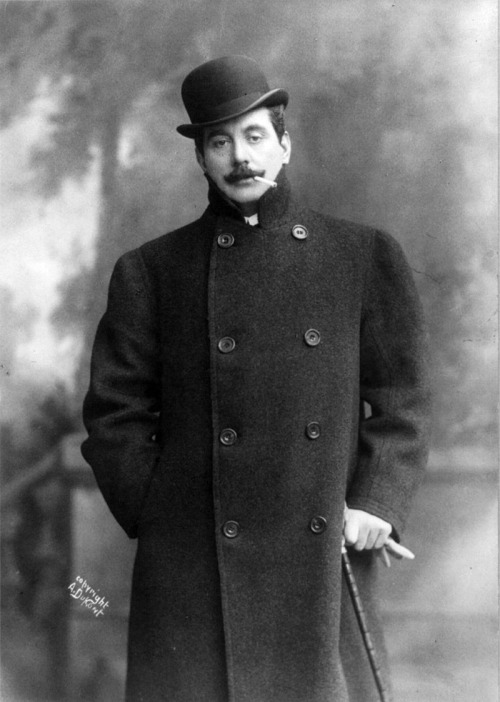 Giacomo Puccini photographed in 1908