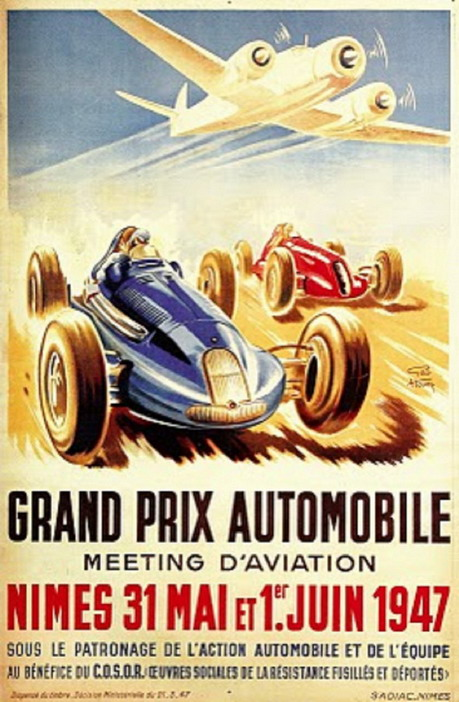 Grand Prix Automobile et Meeting d'Aviation, Nimes, 1947