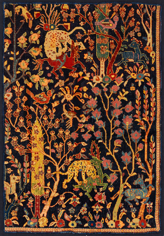 Detail of an ancient Persian rug