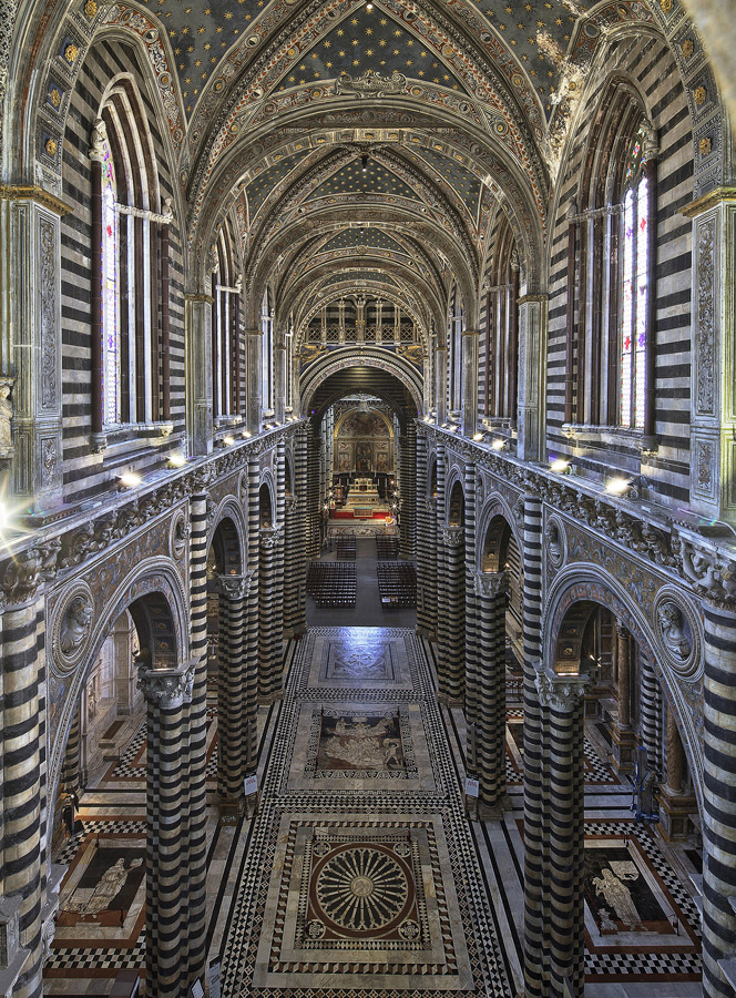 Cathedral in Siena, Tuscany, Italy