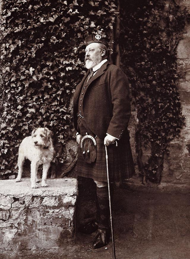 King Edward VII with his dog Cesar