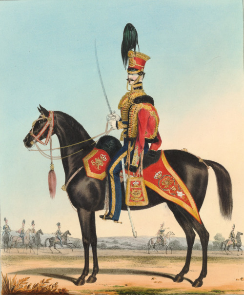 Officer of the 15th Hussars, Great Britain, 1831, by C.H.Martin