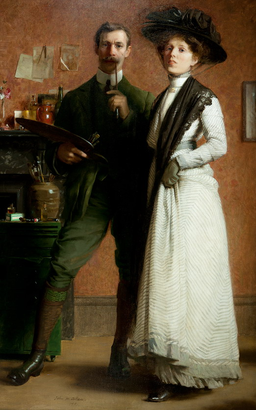 """Portrait of the Artist and his Wife"" by John MacDonald Aiken"