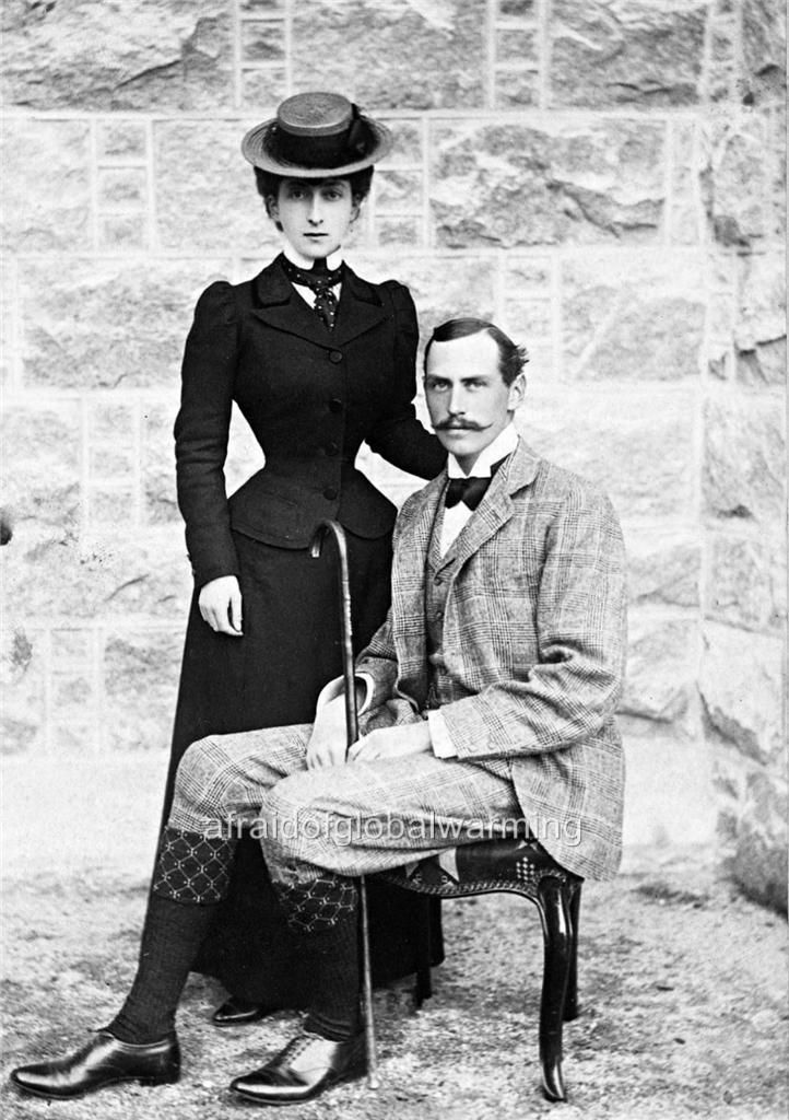 Queen Maud (1869-1938) and King Haakon VII (1872-1957) of Norway