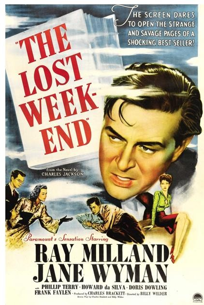 """The Lost Weekend"" starring Ray Milland and Jane Wyman, 1945"
