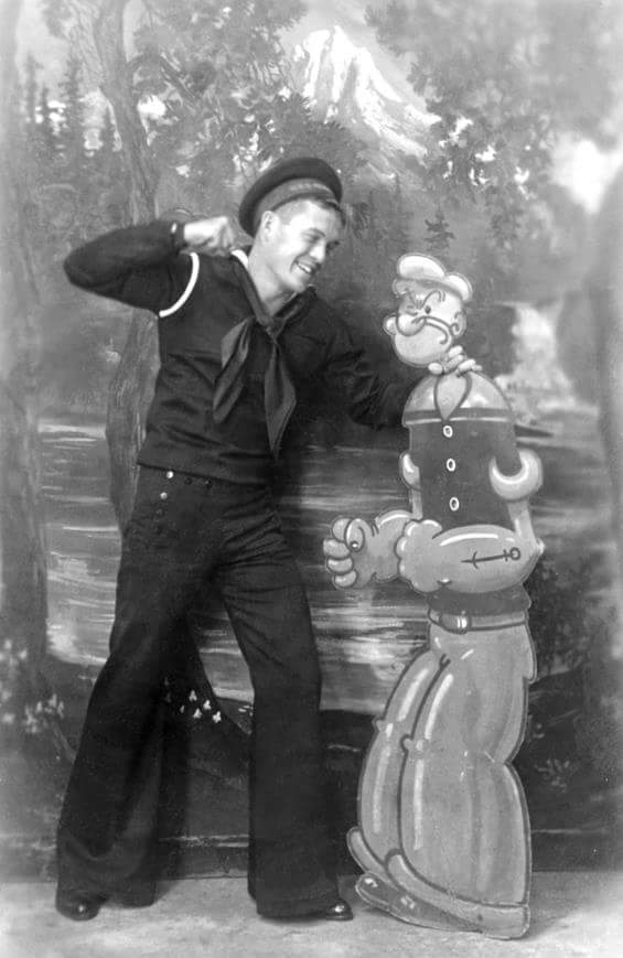 Sailor with a popeye prop