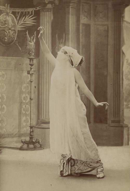 "Sarah Bernhardt on stage in ""Theodora"""